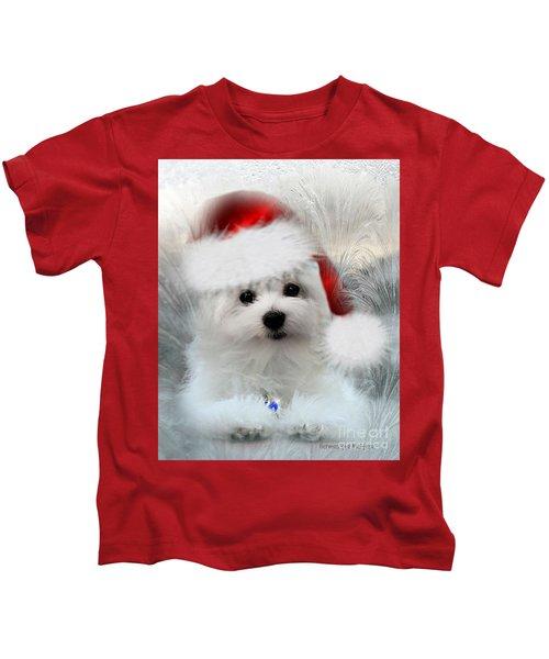 Hermes The Maltese At Christmas Kids T-Shirt