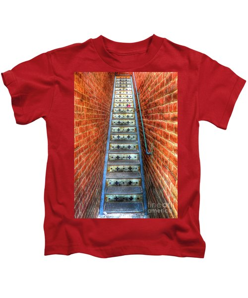 Hidden Stairway In Old Bisbee Arizona Kids T-Shirt