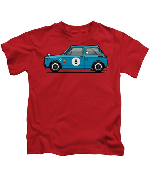 Honda N600 Blue Kei Race Car Kids T-Shirt