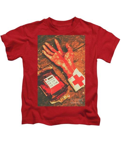Horror Hospital Scenes Kids T-Shirt