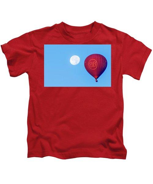 Hot Air Balloon And Moon Kids T-Shirt