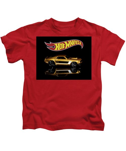Hot Wheels '69 Ford Mustang Kids T-Shirt