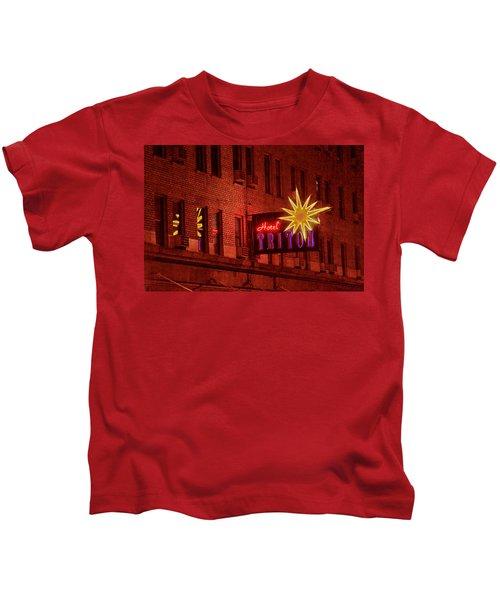 Hotel Triton Neon Sign Kids T-Shirt