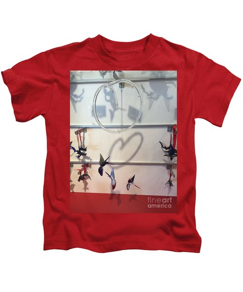 Hummingbird Shadows Kids T-Shirt