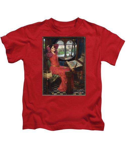 I Am Half-sick Of Shadows, Said The Lady Of Shalott Kids T-Shirt