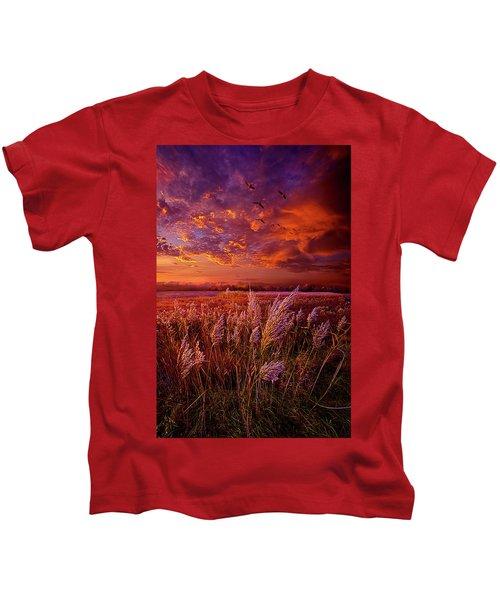 I Spoke To God Today Kids T-Shirt