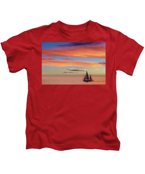 I Will Sail Away, And Take Your Heart With Me Kids T-Shirt