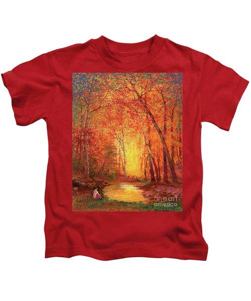 In The Presence Of Light Meditation Kids T-Shirt