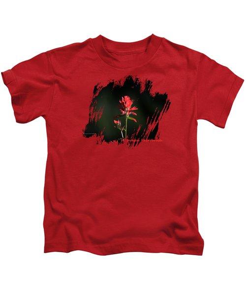 Indian Paintbrush 3 Kids T-Shirt