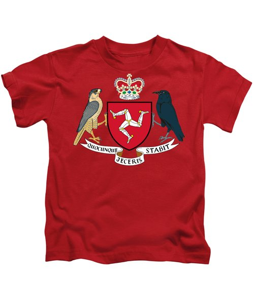 Isle Of Man Coat Of Arms Kids T-Shirt