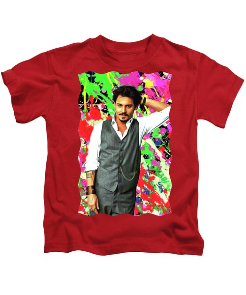 Johnny Depp - Celebrity Art Kids T-Shirt