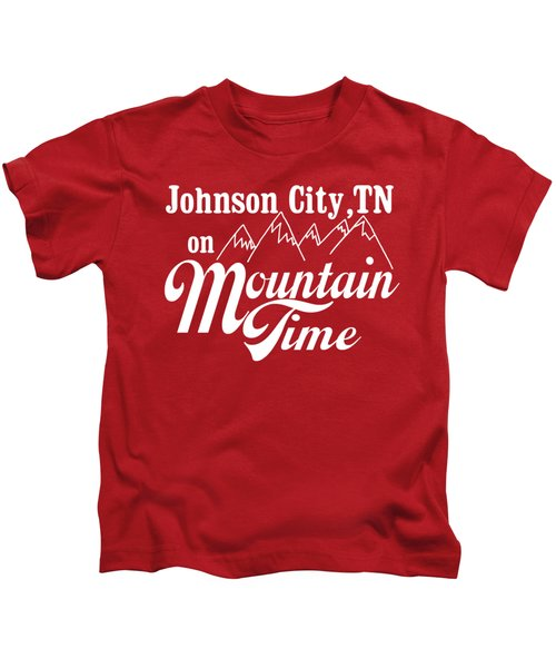 Johnson City Tn On Mountain Time Kids T-Shirt