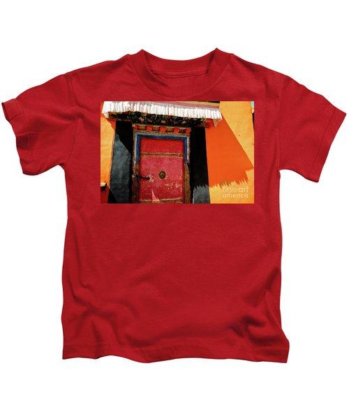 Jokhang Temple Door Lhasa  Tibet Artmif.lv Kids T-Shirt