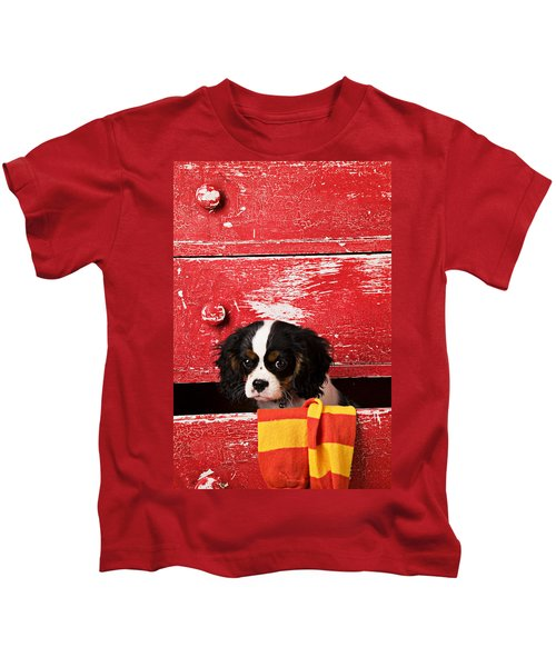 King Charles Cavalier Puppy  Kids T-Shirt