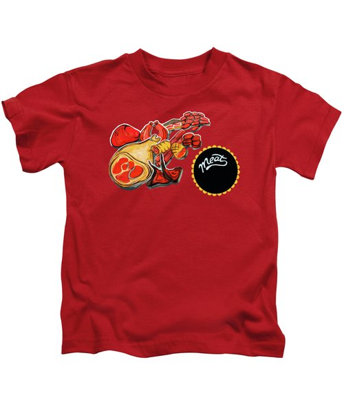 Kitchen Illustration Of Menu Of Meat Products  Kids T-Shirt