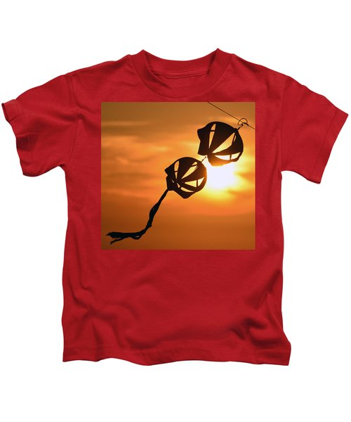 Kite On A String Kids T-Shirt