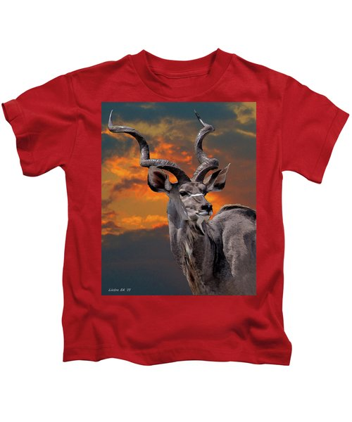 Kudu At Sunset Kids T-Shirt