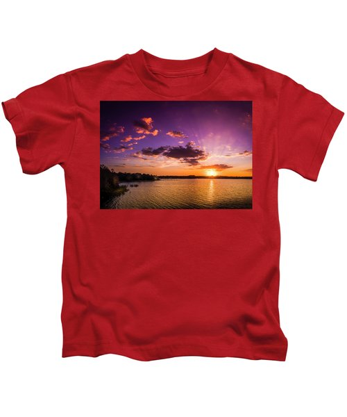 Lake Tarpon Sunset Kids T-Shirt