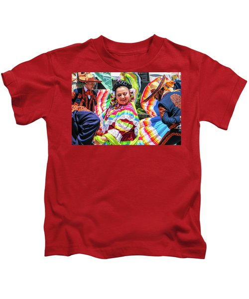 Latino Street Festival Dancers Kids T-Shirt