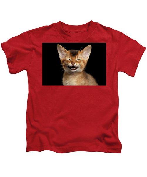 Laughing Kitten  Kids T-Shirt