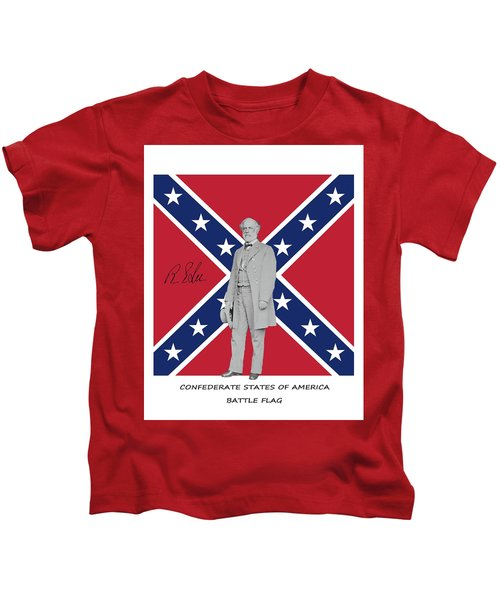Lee Battleflag Kids T-Shirt