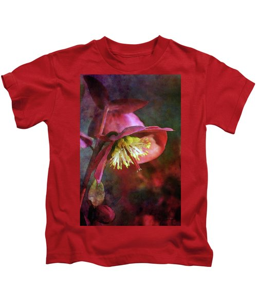 Lenten Rose Bowing To The Sun 8712 Idp_2 Kids T-Shirt