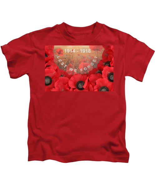 Lest We Forget - 1914-1918 Kids T-Shirt