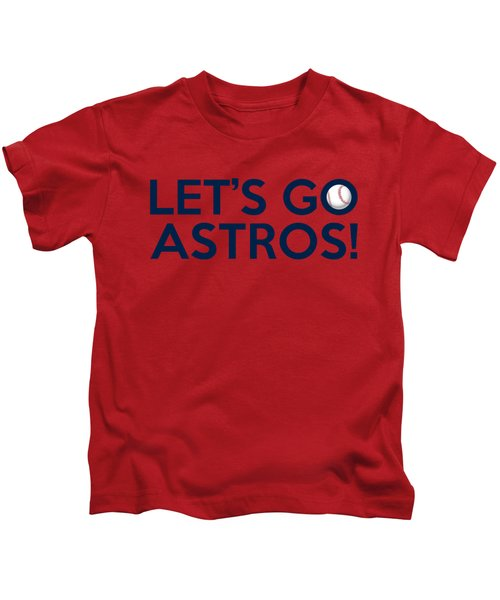 Let's Go Astros Kids T-Shirt by Florian Rodarte