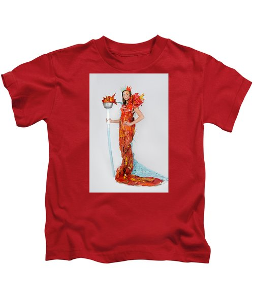Lily In Fire And Ice Queen Kids T-Shirt