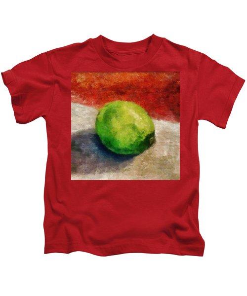 Lime Still Life Kids T-Shirt