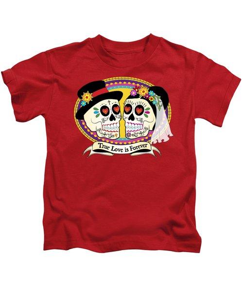 Los Novios Sugar Skulls Kids T-Shirt