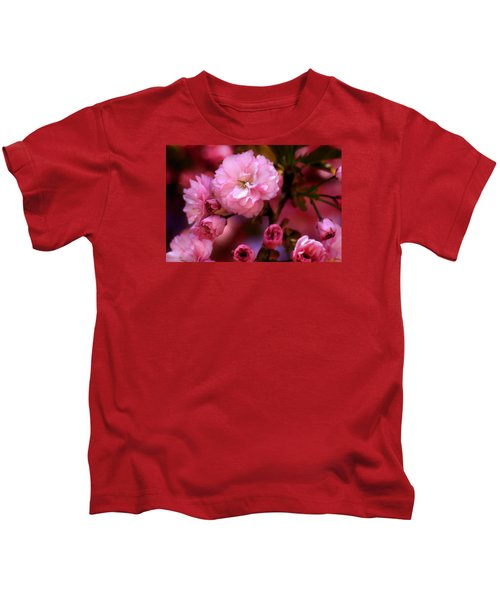Lovely Spring Pink Cherry Blossoms Kids T-Shirt