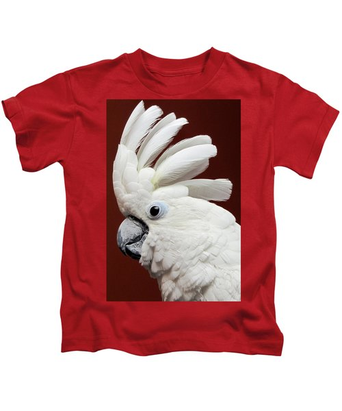 Maggie The Umbrella Cockatoo Kids T-Shirt