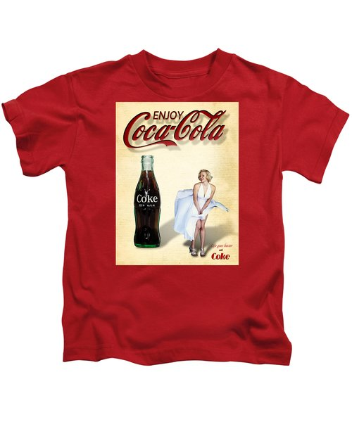 Marilyn Coca Cola Girl 3 Kids T-Shirt