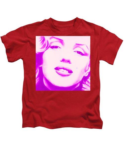 Marilyn Monroe, Purple And Pink Kids T-Shirt