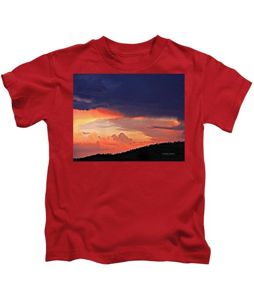 Mazatzal Peak Sunset Kids T-Shirt