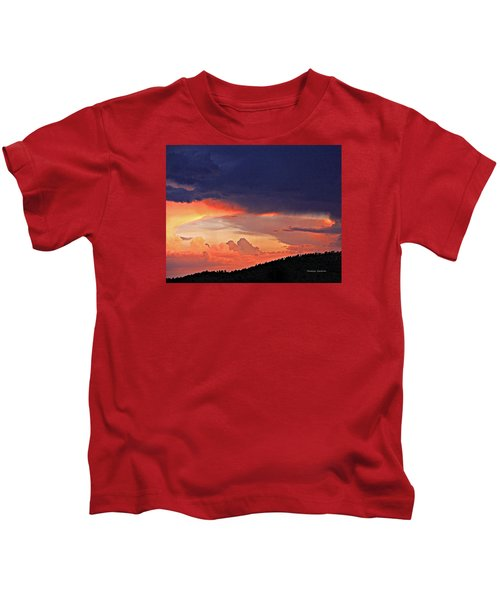 Mazatzal Peak Sunset Kids T-Shirt
