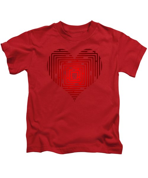 Maze In The Heart Kids T-Shirt