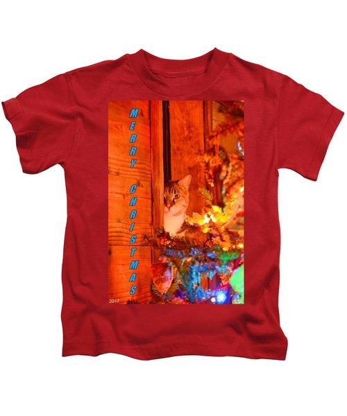 Merry Christmas Waiting For Santa Kids T-Shirt