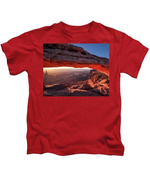 Mesa Arch At Sunrise 2, Canyonlands National Park, Utah Kids T-Shirt