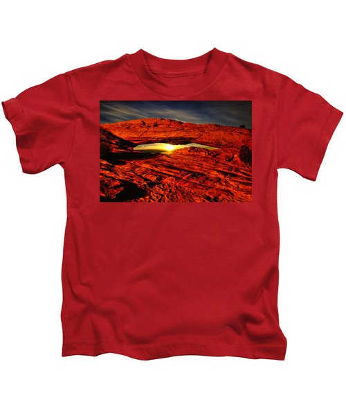 Mesa Arch Moonshine Kids T-Shirt