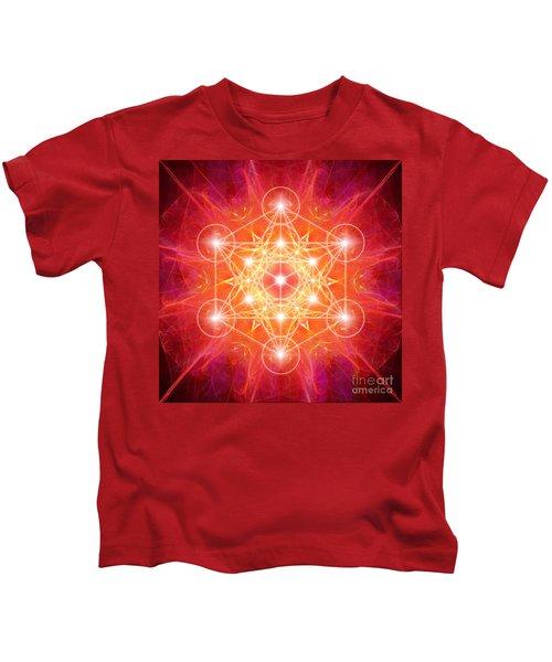 Metatron's Cube Light Kids T-Shirt