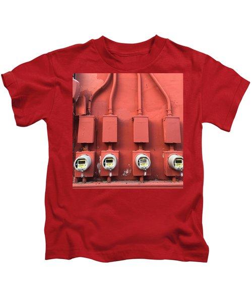 Meter Reader Red 2 Kids T-Shirt