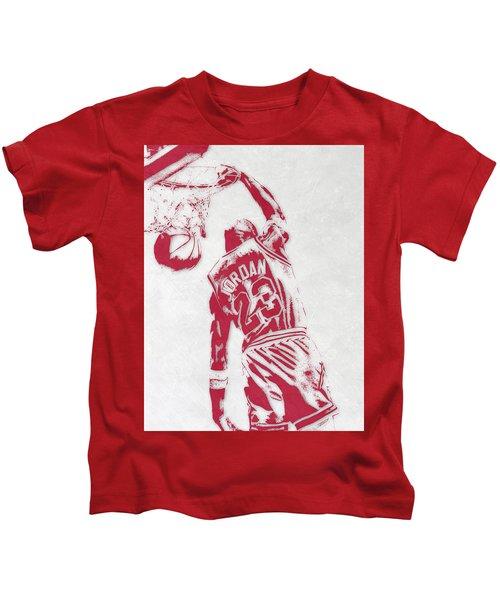 Michael Jordan Chicago Bulls Pixel Art 1 Kids T-Shirt
