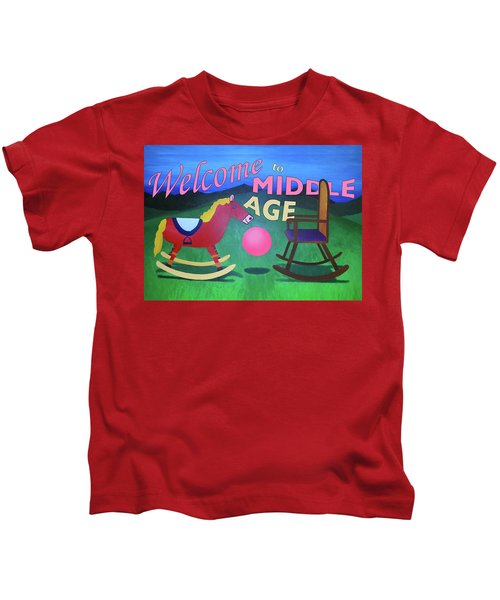Middle Age Birthday Card Kids T-Shirt