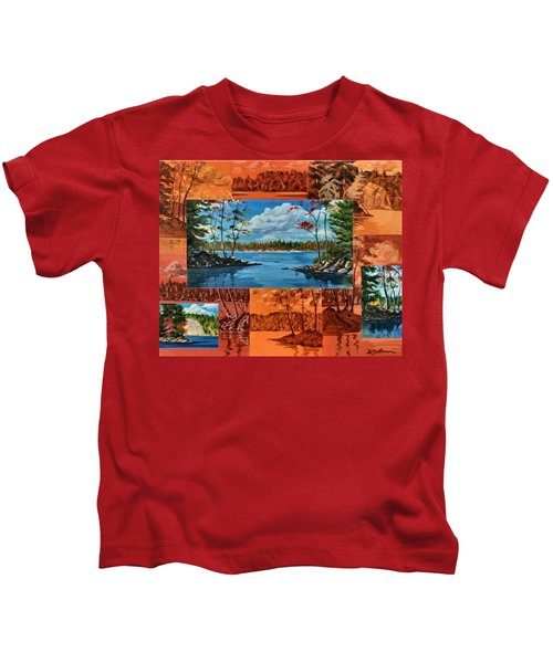 Mink Lake Looking North West Kids T-Shirt