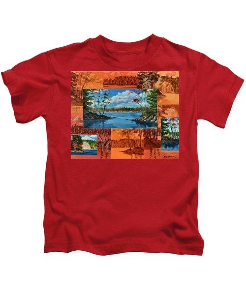 Mink Lake Looking North West Kids T-Shirt