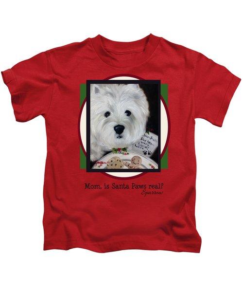 Mom Is Santa Paws Real Kids T-Shirt