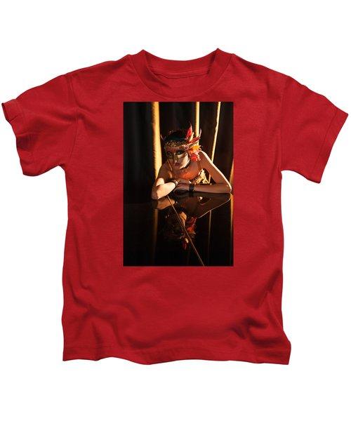 Mona. Reflection On Grand Piano Kids T-Shirt
