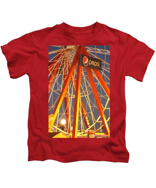 Moon And The Ferris Wheel Kids T-Shirt